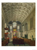 """The German Chapel, St. James's Palace, from """"The History of the Royal Residences"""", 1819 Giclee Print by Charles Wild"""