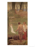 The Childhood of St. Genevieve Giclee Print by Pierre Puvis de Chavannes