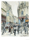 View of the Rue de Croissant in the 11th Arrondissement of Paris, 1893 Giclee Print by Ernest Grenier
