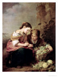 The Little Fruit-Seller, 1670-75 Premium Giclee Print by Bartolome Esteban Murillo