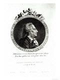 Medallion Portrait of Giacomo Casanova Age 63, 1788 Giclee Print by Johann Berka