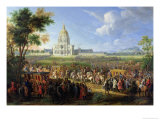 Louis XIV and His Entourage Visiting Les Invalides, 26th August 1706 Premium Giclee Print by Pierre-Denis Martin