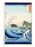 "The Wave, from the Series ""100 Views of the Provinces"" Giclee Print by Ando Hiroshige"