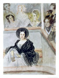 Marie Duplessis at the Theatre Giclee Print by Camille-joseph-etienne Roqueplan