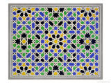 Mosaic in Dado of the Door in the Hall of the Two Sisters, Alhambra Giclee Print by James Cavanagh Murphy