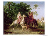 Departing for the Hunt Reproduction procédé giclée par Eugene Fromentin