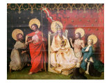 Altarpiece Depicting Christ with St. Thomas and God the Father with Christ Giclee Print by Konrad Witz