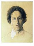 Portrait of Aleksandr Aleksandrovich Blok, 1907 Giclee Print by Konstantin Andreevic Somov