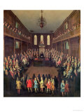 The House of Commons in Session, 1710 Giclee Print by Peter Tillemans