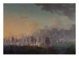 The Battle of Louisbourg on the 21st July 1781 Giclee Print by Auguste Rossel De Cercy
