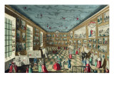 Perspective View of the Salon of the Royal Academy of Painting and Sculpture at the Louvre, Paris Giclee Print