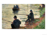 Anglers, Study for &quot;La Grande Jatte&quot;, 1883 Giclee Print by Georges Seurat