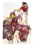"""Costume Design for Nijinsky in the Ballet """"La Peri"""" by Paul Dukas 1911 Giclee-trykk av Leon Bakst"""