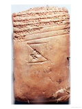 Tablet with Cuneiform Script, circa 1830-1530 BC Giclee Print by Babylonian 