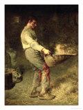 A Winnower, 1866-68 Giclee Print by Jean-François Millet