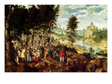 The Sermon of St. John the Baptist, circa 1550 Giclee Print