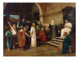 Christ Before Pilate, 1880 Giclee Print by Mihaly Munkacsy