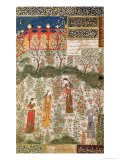 The Persian Prince Humay Meeting the Chinese Princess Humayun in a Garden, circa 1450 Premium Giclee Print