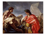 Achilles Contemplating the Body of Patroclus Giclee Print by Giovanni Antonio Pellegrini