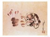 Craftsman Painting Toys Giclée-Druck von Katsushika Hokusai