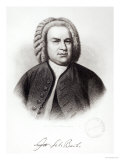 Portrait of Johann Sebastian Bach Giclee Print by V. Weger