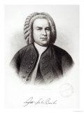 Portrait of Johann Sebastian Bach Giclee Print by V. Weger