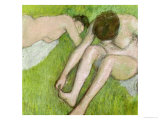 Two Bathers on the Grass, circa 1886-90 Reproduction proc&#233;d&#233; gicl&#233;e par Edgar Degas