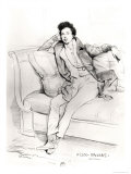 Alexandre Dumas Pere Giclee Print by Achille Deveria
