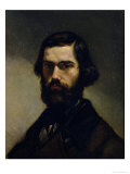 Portrait of Jules Valles circa 1861 Reproduction procédé giclée par Gustave Courbet