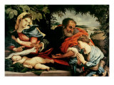 The Holy Family with St. Catherine of Alexandria, 1533 Giclee Print by Lorenzo Lotto