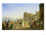 Italian Dancing, Naples, 1836 Giclee Print by Carl Wilhelm Gotzloff