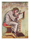 St. Matthew, Commissioned by Ebbo, Archbishop of Reims Giclee Print