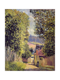 A Road in Louveciennes, 1883 Reproduction procédé giclée par Alfred Sisley