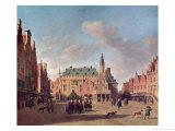 View of the Grote Markt in Haarlem Giclee Print by Gerrit Adriaensz Berckheyde