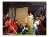 Zeuxis Choosing Models from the Beautiful Women of Croton, 1789 Giclée-Druck von Francois Andre Vincent
