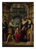 The Medici Cycle: Henri IV Leaving for the War and Bestowing the Government to Marie de Medici 1610 Giclee Print by Peter Paul Rubens