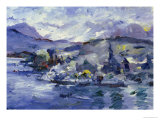 Afternoon on Lake Lucerne, 1924 Gicleetryck av Lovis Corinth