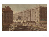 View of the Charlottenburg Palace, 1781 Reproduction procédé giclée par Johann Georg Rosenberg