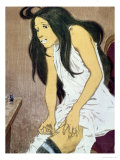 A Drug Addict Injecting Herself, Early 20th Century Giclee Print by Eugene Grasset