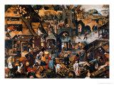 Flemish Proverbs Giclée-Druck von Pieter Brueghel the Younger