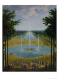 View of the Bassin D'Apollon in the Gardens of Versailles, 1713 Giclee Print by Pierre-Denis Martin