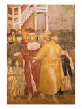 St. Francis Renounces All Worldly Goods, Detail of Pietro Di Bernardone, 1297-99 Giclee Print by  Giotto di Bondone