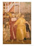 St. Francis Renounces All Worldly Goods, Detail of Pietro Di Bernardone, 1297-99 Giclee Print by  Giotto di Bondone