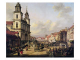 View of Krakowskie Przedmiescie from Ulica Nowy Swiat, Warsaw, 1778 Giclee Print by Bernardo Bellotto