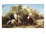 Arab Horsemen Giclee Print by Eugene Fromentin