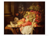 Still Life with Lobster Giclee Print by Johannes Hannot