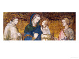 Virgin and Child with St. Francis and St. John the Evangelist Giclee Print by Pietro Lorenzetti