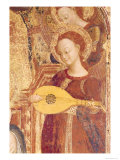 Virgin and Child Enthroned with Six Angels, Detail of an Angel Musician, 1437-44 Giclee Print by  Sassetta