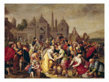 The Exodus or the Vases of the Egyptians Giclee Print by Frans Francken the Younger