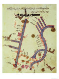 The Tigris and the Euphrates from a Geographical Atlas Impressão giclée por  Al Istalhry